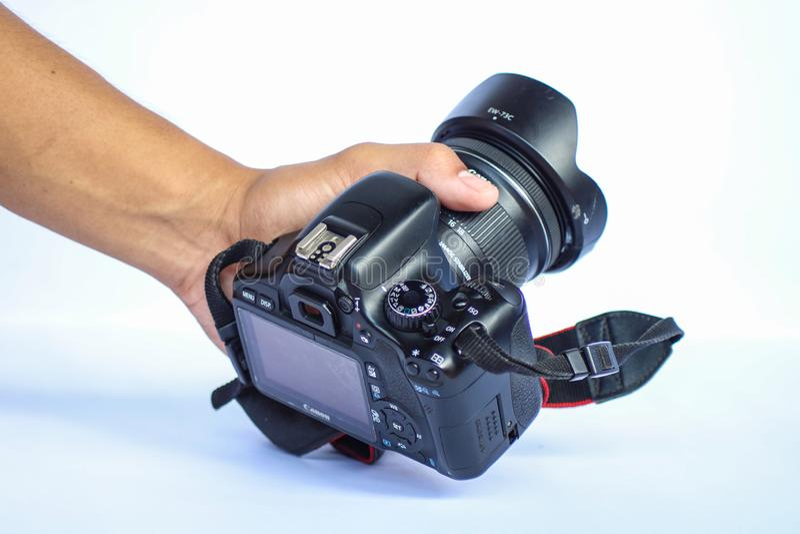 Używać Canon EOS 550D, buntownik/T2i, buziak X4 Digital/ obrazy stock
