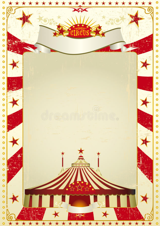 używać cyrkowy plakat royalty ilustracja