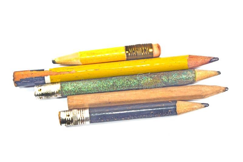 Używać drewniany ołówek obrazy stock
