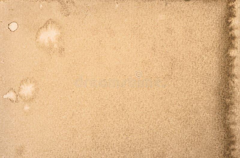 używać papierowa tekstura starożytny ciemności tła papieru akwareli żółty obraz royalty free