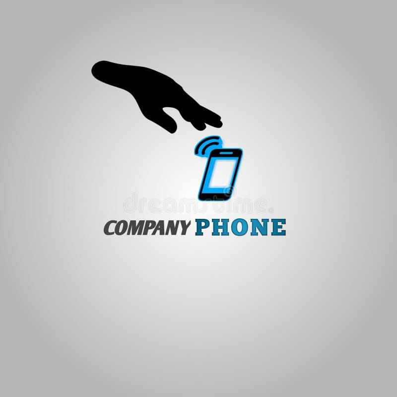 Używam wyobraźnię tworzyć telefon komórkowy firmy logo fotografia stock