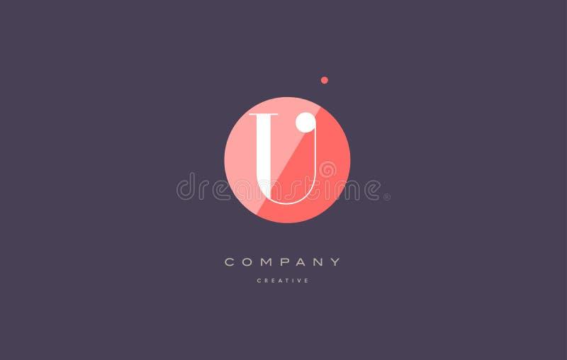 u减速火箭的葡萄酒菱形简单的黑白色字母表信件商标 库存例证