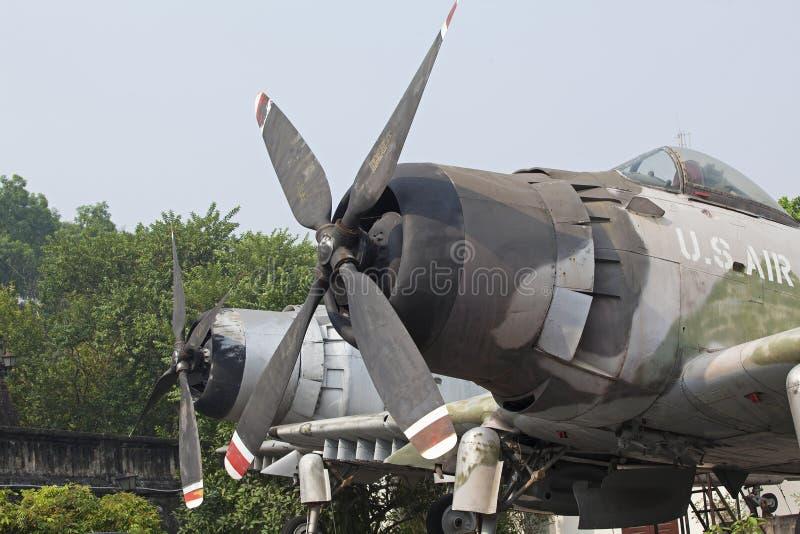 U喷气机  击落的S空军队 库存图片