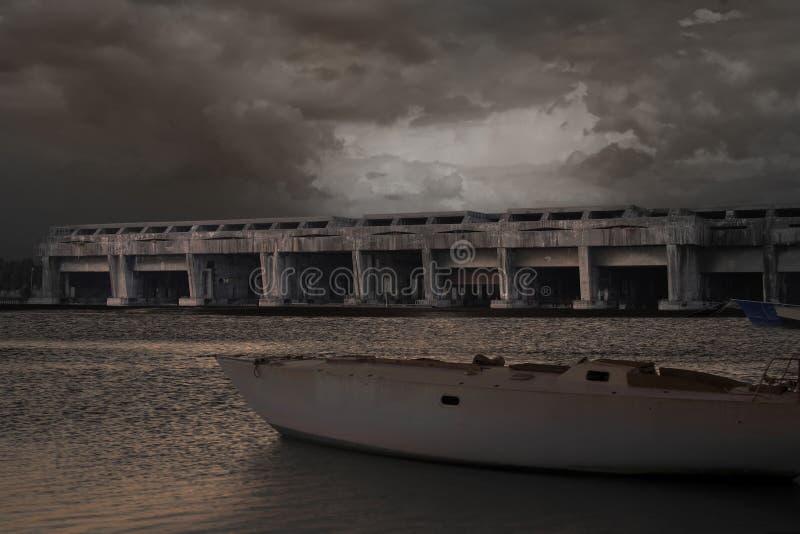 U小船地堡 免版税库存照片