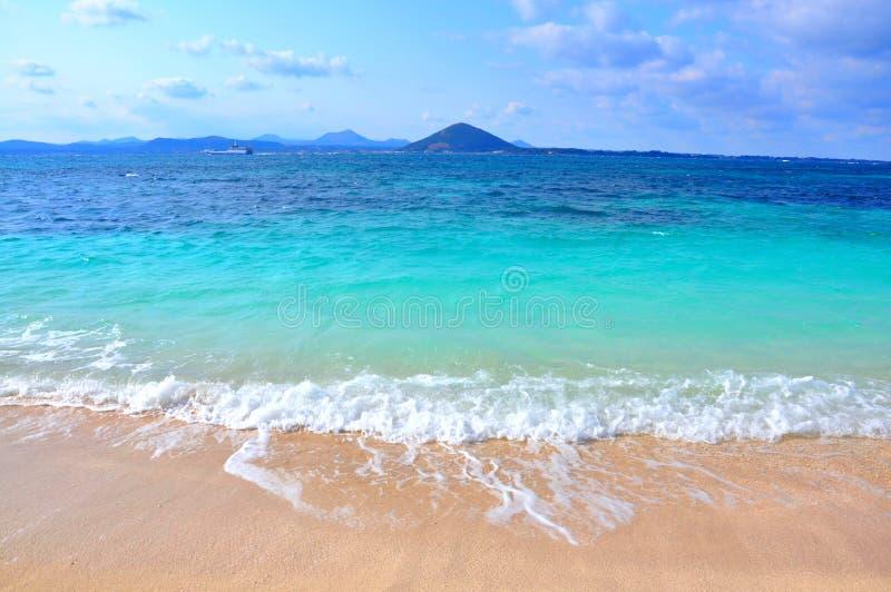 纯净的海在Udo海岛,南韩 免版税库存照片