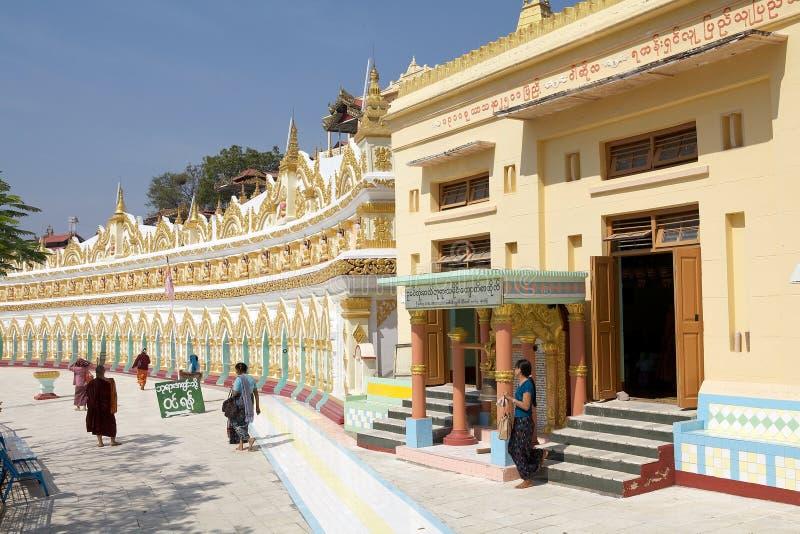 U极小的Thonze洞实皆小山,缅甸 图库摄影