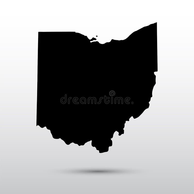 U的地图 S 俄亥俄状态 向量例证