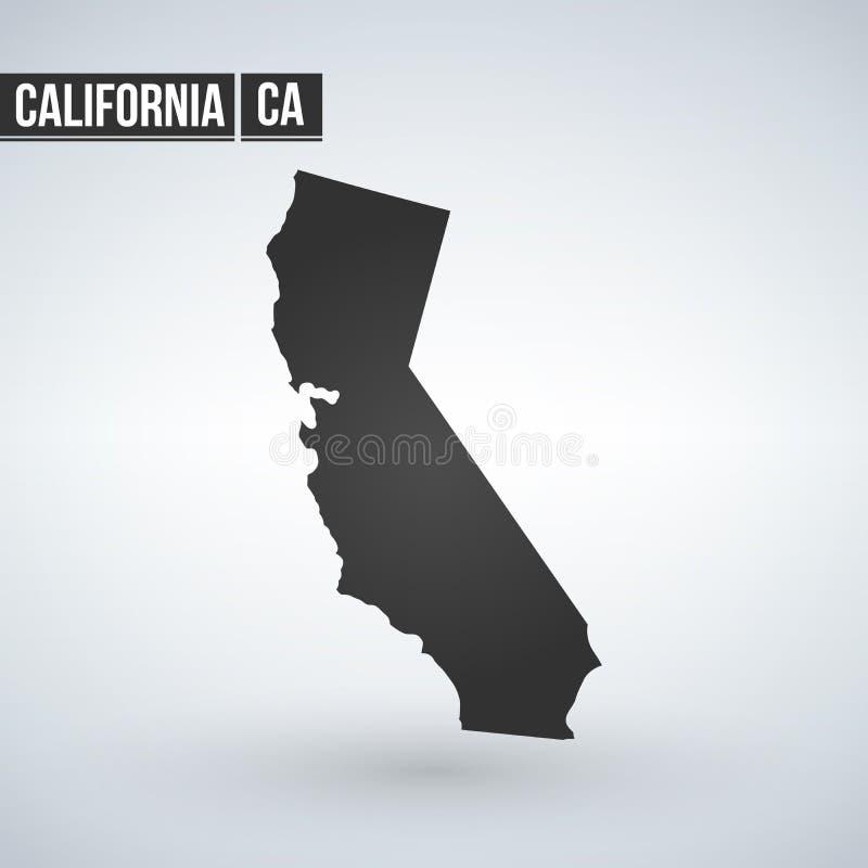 U的地图 S 加利福尼亚州,传染媒介例证 皇族释放例证