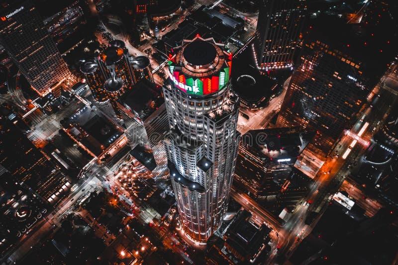 U的空中射击 S 银行塔 免版税图库摄影