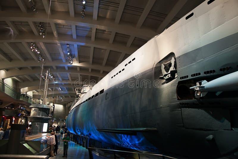 U-505 - Duitse Onderzeeër stock afbeeldingen