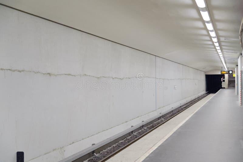 U-Bahn. Underground Metro station in berlin royalty free stock photography