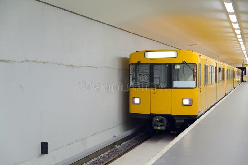 U-Bahn. Underground Metro station in berlin royalty free stock image