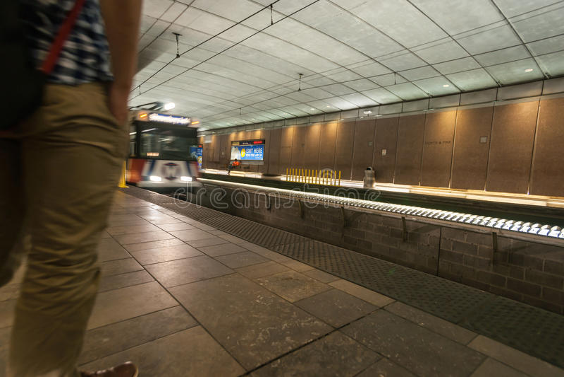 U-Bahn St. Louis, Missouri, USA Bahnhof lizenzfreies stockfoto