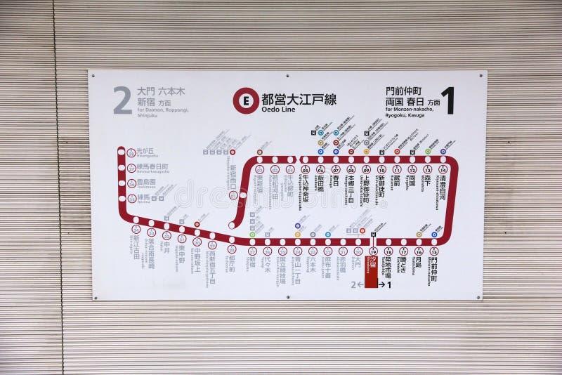 U-Bahnlinie Karte lizenzfreie stockfotos