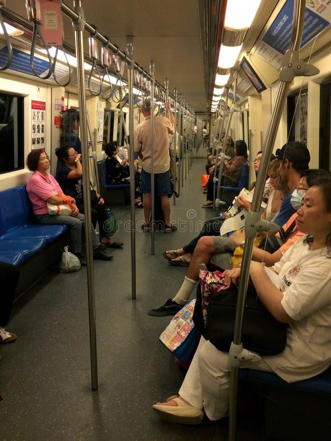 U-Bahnreiter Bangkok lizenzfreies stockfoto