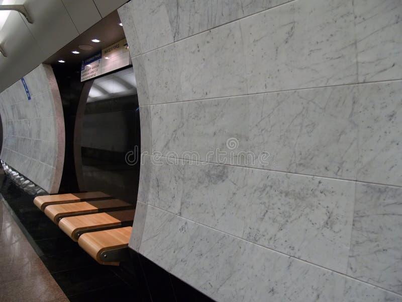 U-Bahnstation in Moskau lizenzfreie stockfotos