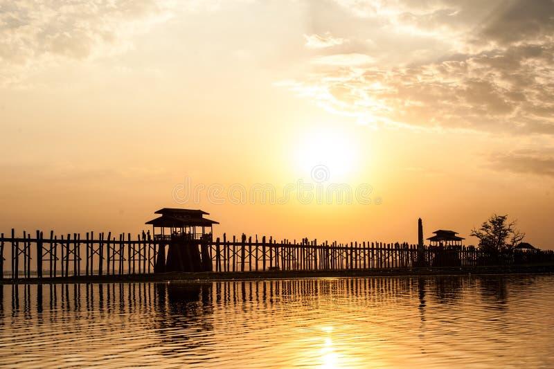 Download U Bein Bridge stock image. Image of orange, mandalay - 29195265