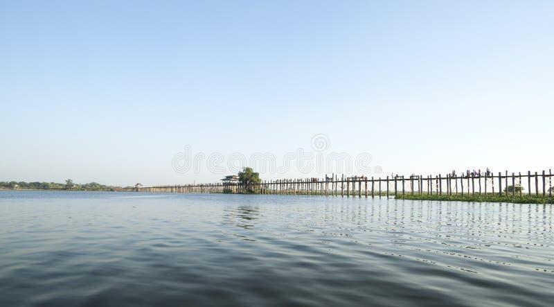 U Bein most, Mandalay Myanmar. zdjęcie stock