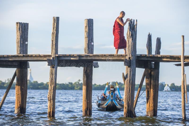 U Bein most Myanmar obrazy royalty free