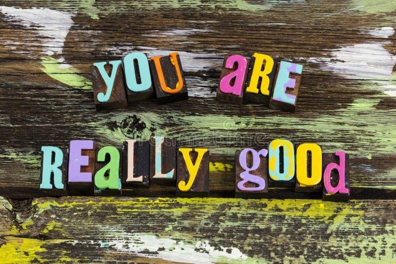 U bent de beste, uitstekende, uitstekende ervaring, eerlijkheid van kwaliteit stock afbeelding