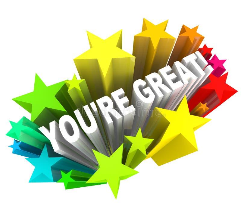 U bent Groot - prijs Woorden voor Succes royalty-vrije illustratie