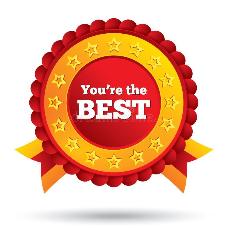 U bent het beste pictogram. De toekenning van de klantendienst. royalty-vrije illustratie