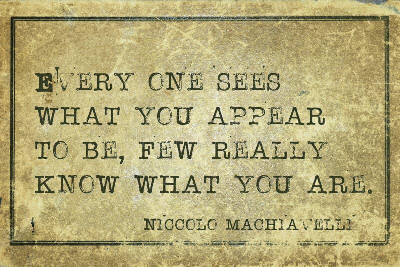 U bent Machiavelli royalty-vrije stock foto