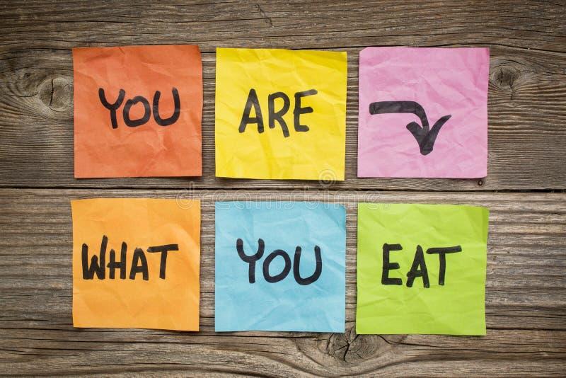 U bent wat om concept te eten stock afbeeldingen