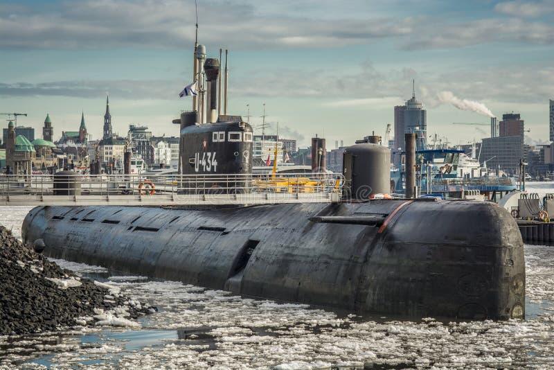 U-Boat Hamburg stock images