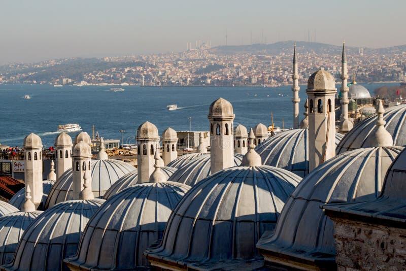 ?u?ere Ansicht der Haube in der Osmanearchitektur in der T?rkei lizenzfreies stockbild