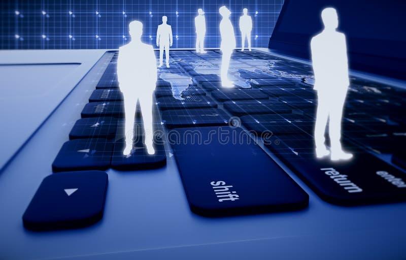 U, globale zaken en technologieën royalty-vrije stock afbeelding