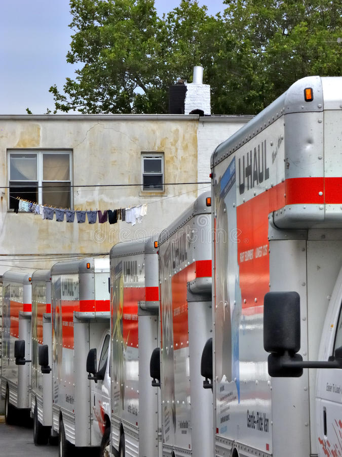 Download U-Haul Trucks In Brooklyn Depot Ready For Movers Editorial Photography - Image: 21920257