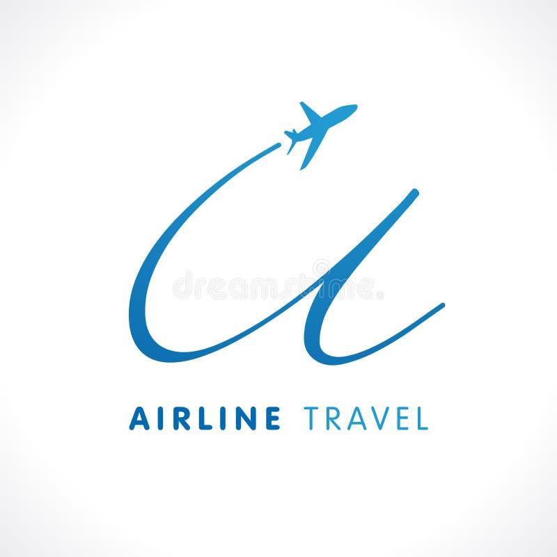 U het embleem van het de reisbedrijf van het brievenvervoer royalty-vrije illustratie