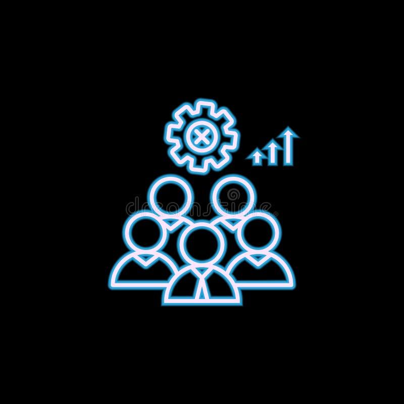 u-het pictogram van de beleidslijn in neonstijl Één van u-inzamelingspictogram kan voor UI, UX worden gebruikt stock illustratie