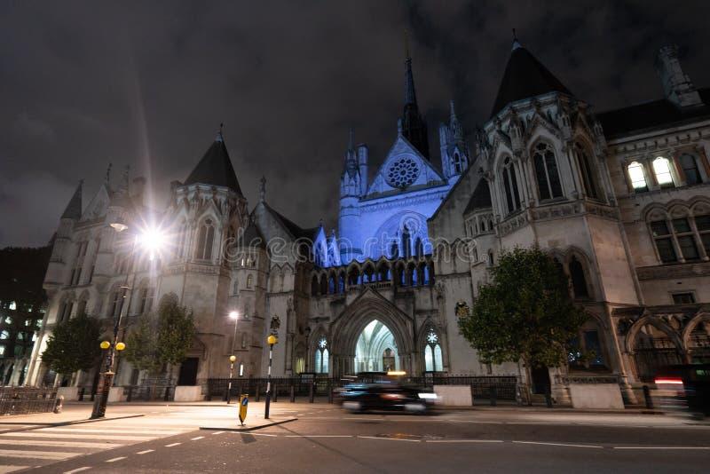 U K Kungliga domstolar av rättvisa royaltyfri foto