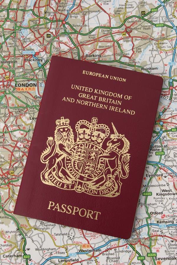 U.K. Paspoort royalty-vrije stock foto's