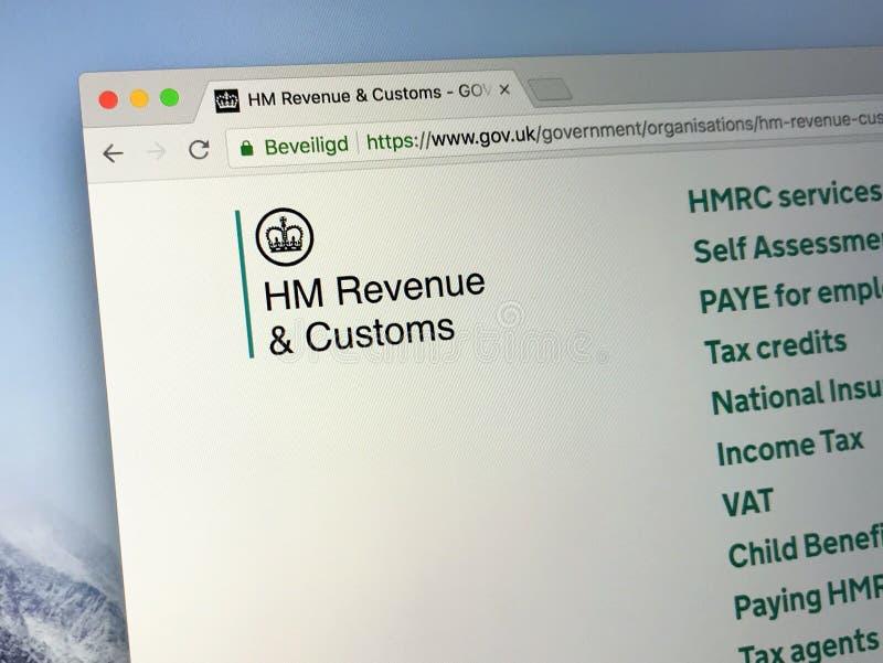 U K Regierungshomepage-Ihre Majestät ` s Einkommen und Gewohnheiten stockbilder