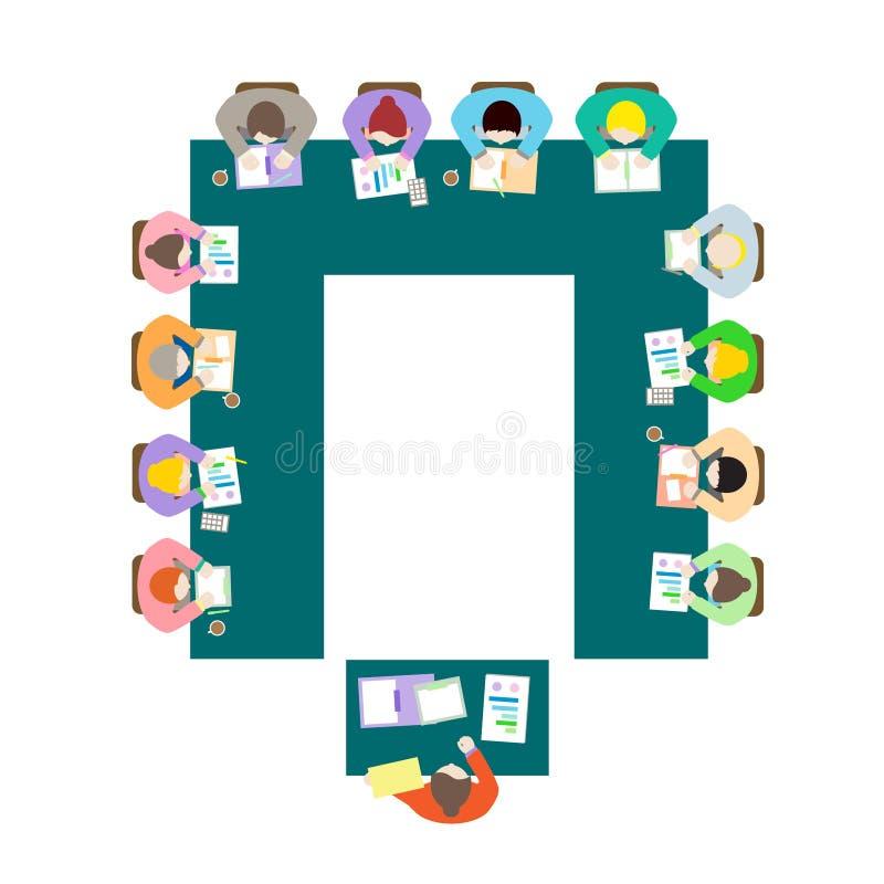 U kształta pokoju konferencyjnego ustawianie zdjęcia royalty free