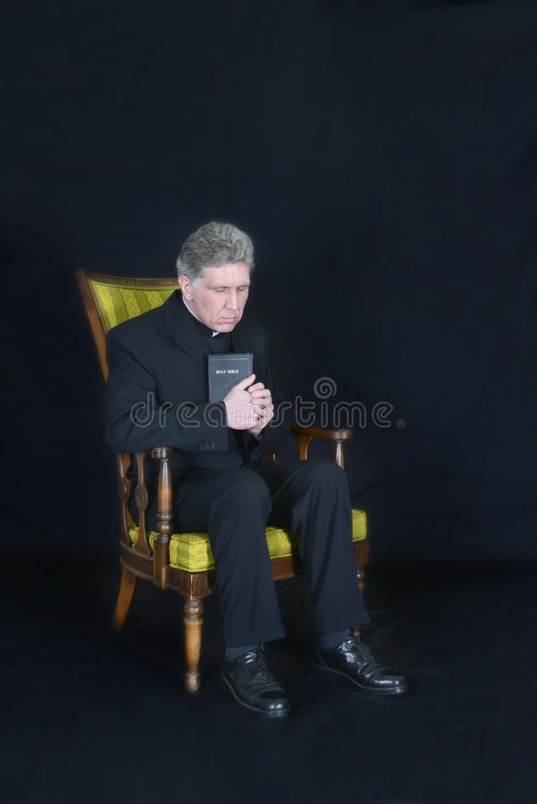 Priester, Prediker, Minister, de Godsdienst van de Predikant, Gebed stock afbeelding