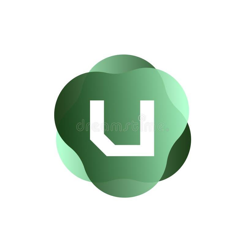 U Letter Logo royalty free illustration
