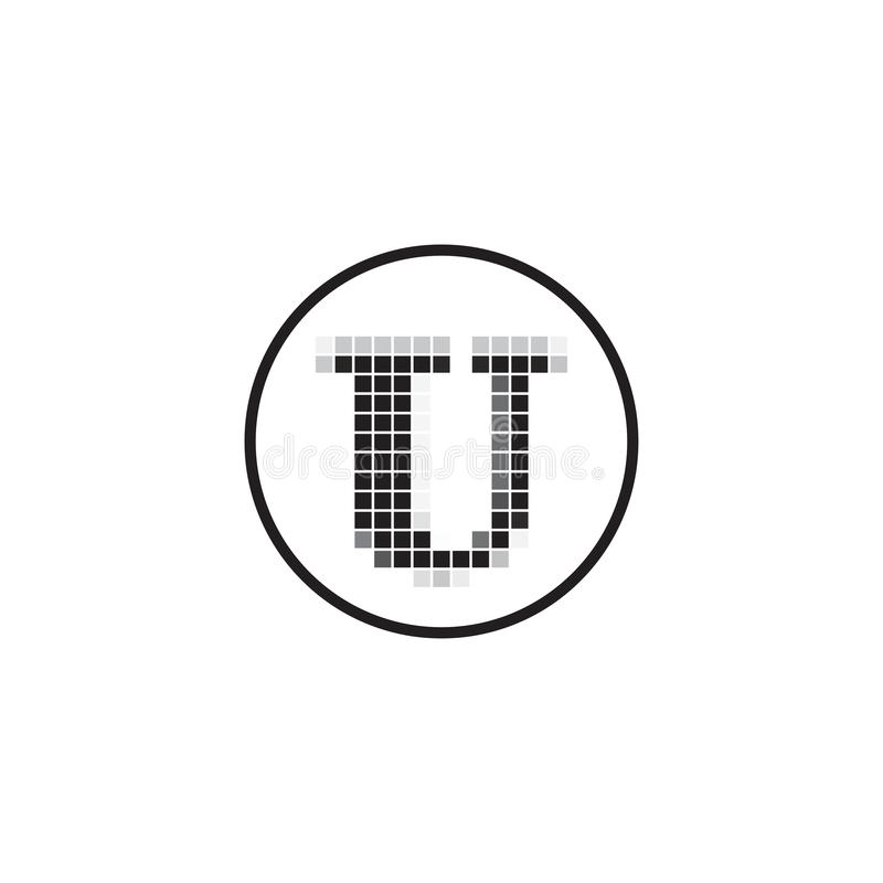 U Letter Pixel Motion Logo Design, Square Pixel U Letter Vector Logo Design, Letter U Pixel Logo Design бесплатная иллюстрация