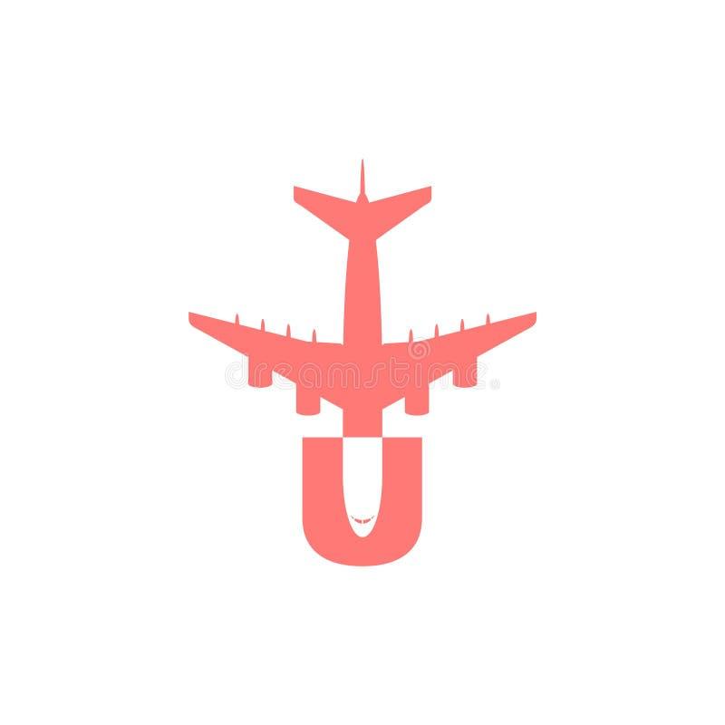 U listu transportu podr??y firmy logo ilustracja wektor
