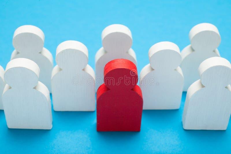 U-manager, die beste kandidaten aantrekken Het kiezen van de concurrentiemensen stock foto's