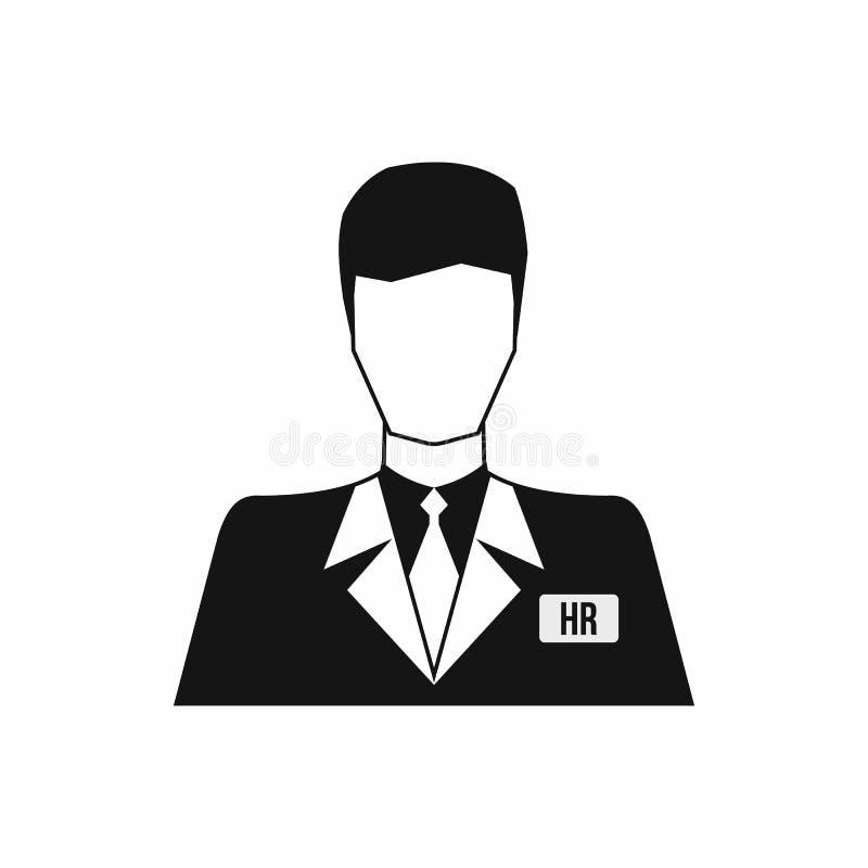U-managerpictogram, eenvoudige stijl royalty-vrije illustratie