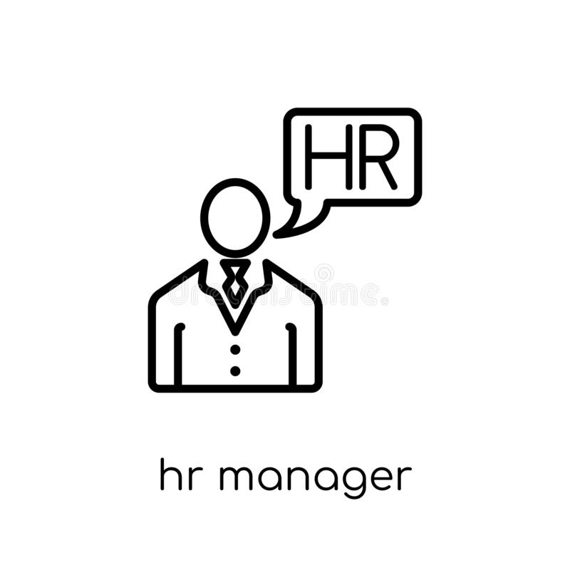 u-managerpictogram In moderne vlakke lineaire vectoru-managerico vector illustratie