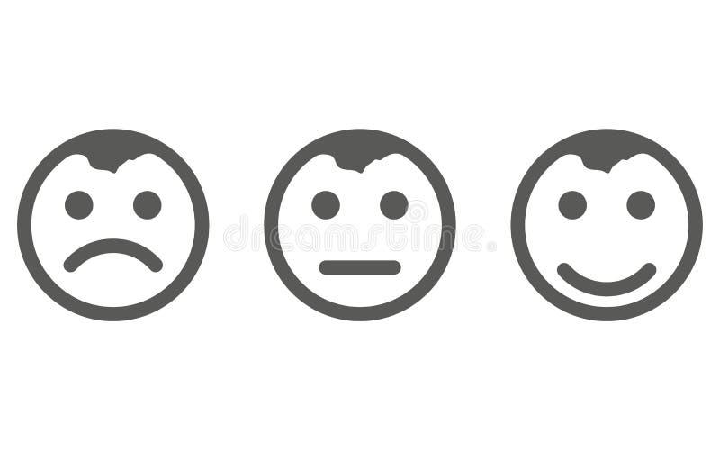 U?miech ikony wektor eps10 Smiley twarz znak Emoji stawia czo?o smiley ikony linii symbol Odosobniona wektorowa ilustracja szcz?? ilustracji