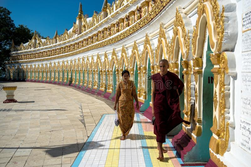 U Min Thonze Pagoda, Myanmar photos stock