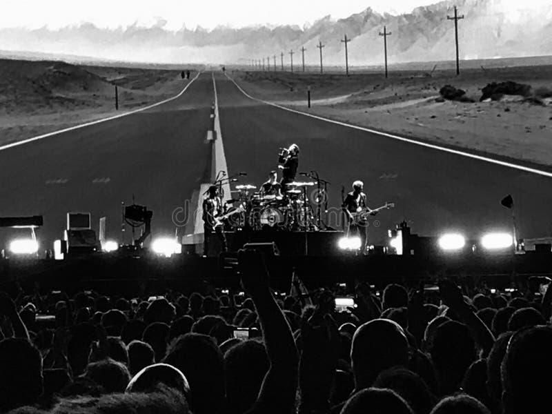 U2 Overleg royalty-vrije stock foto's