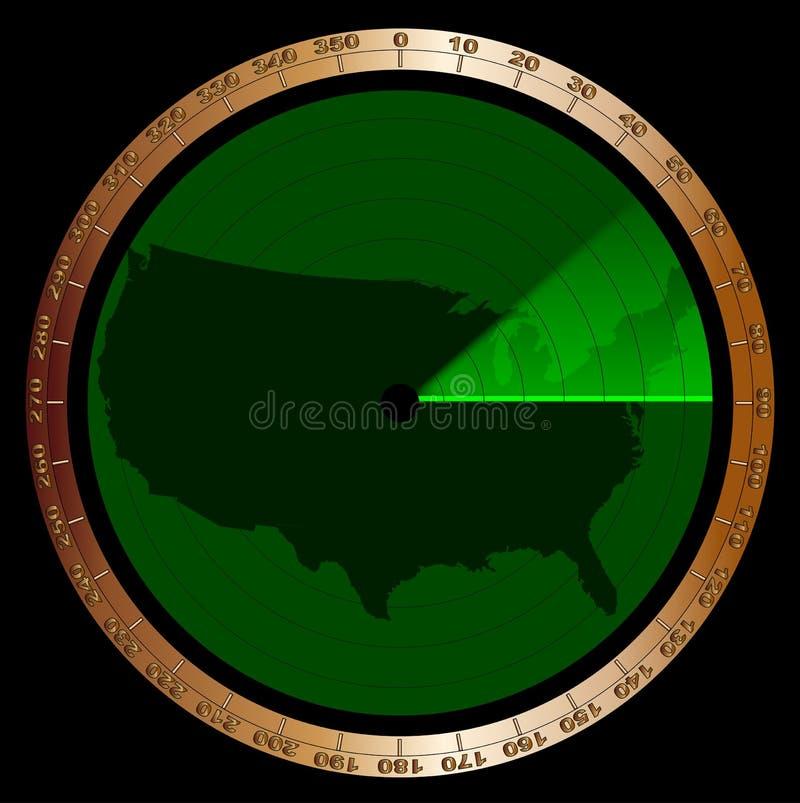 U S Α Σκούπισμα οθονών ραντάρ διανυσματική απεικόνιση