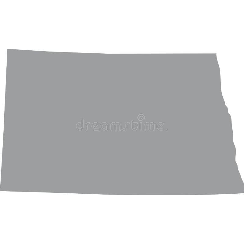 U S βόρειο κράτος της Ντακότα&s ελεύθερη απεικόνιση δικαιώματος